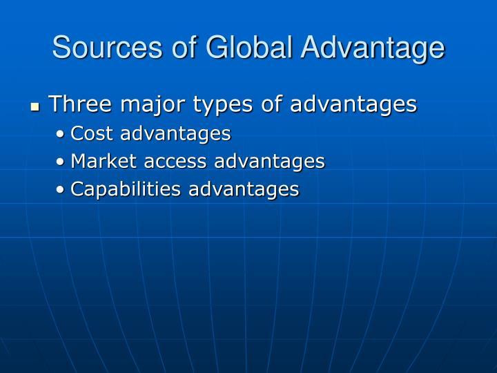 Sources of global advantage