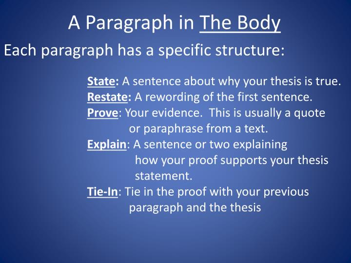 A Paragraph in