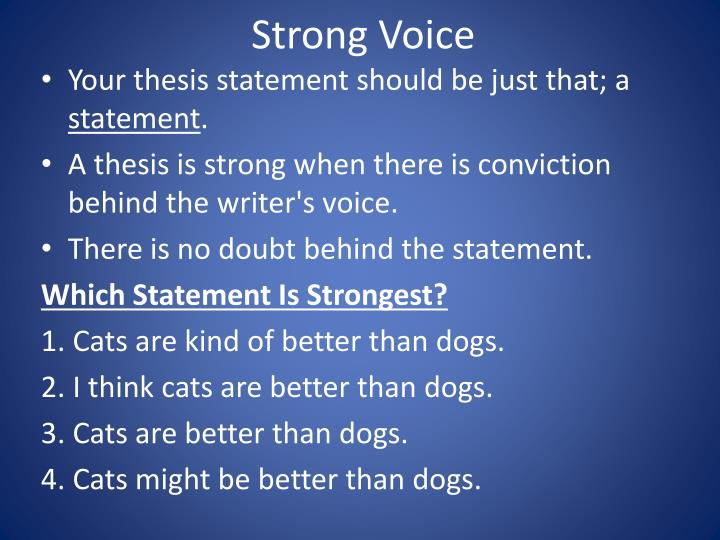 Strong Voice