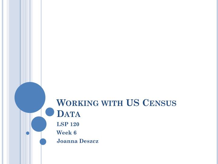 working with us census data
