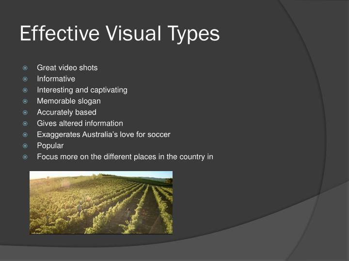 Effective Visual Types