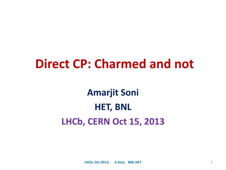 direct cp charmed and not n.