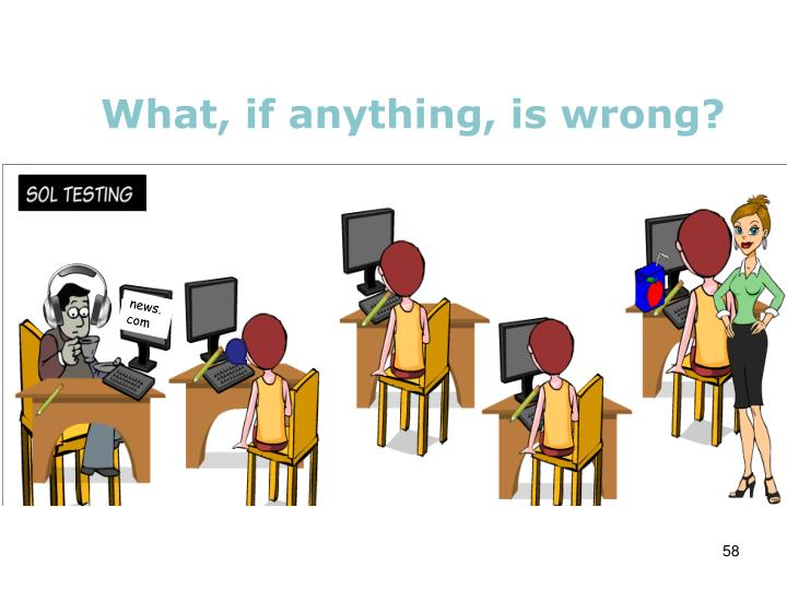 What, if anything, is wrong?