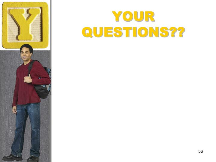 YOUR QUESTIONS??