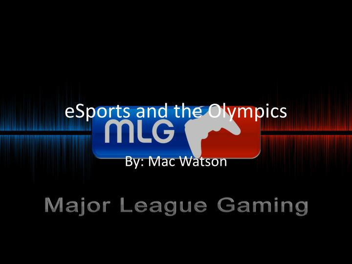 esports and the olympics n.