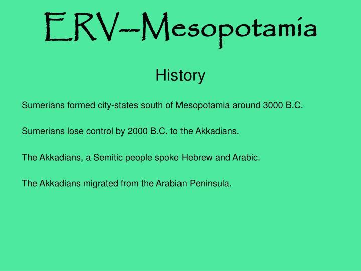ERV--Mesopotamia