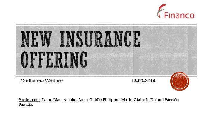 New insurance offering