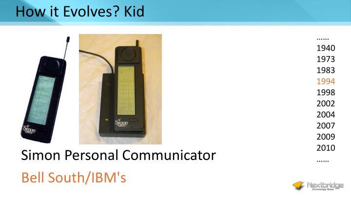How it Evolves? Kid