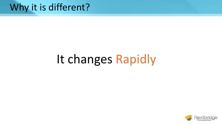 Why it is different?