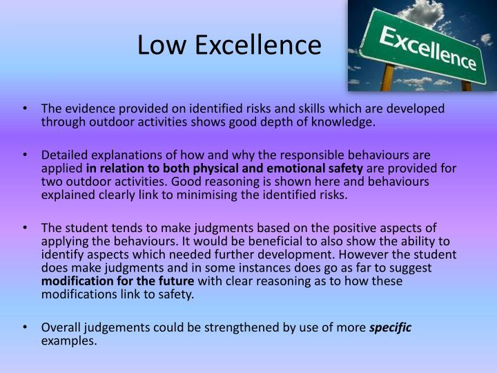 Low Excellence