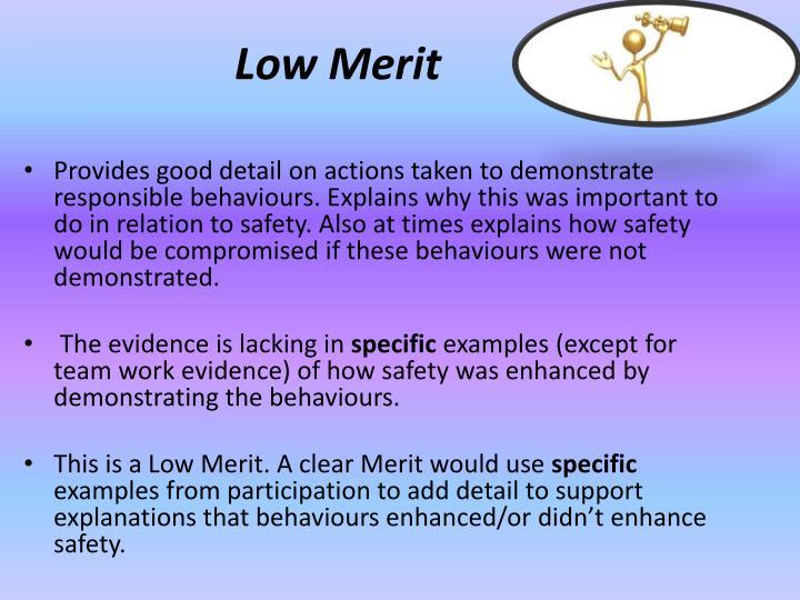 Low Merit
