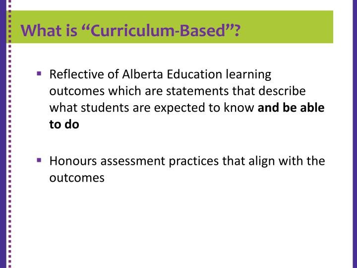 """What is """"Curriculum-Based""""?"""