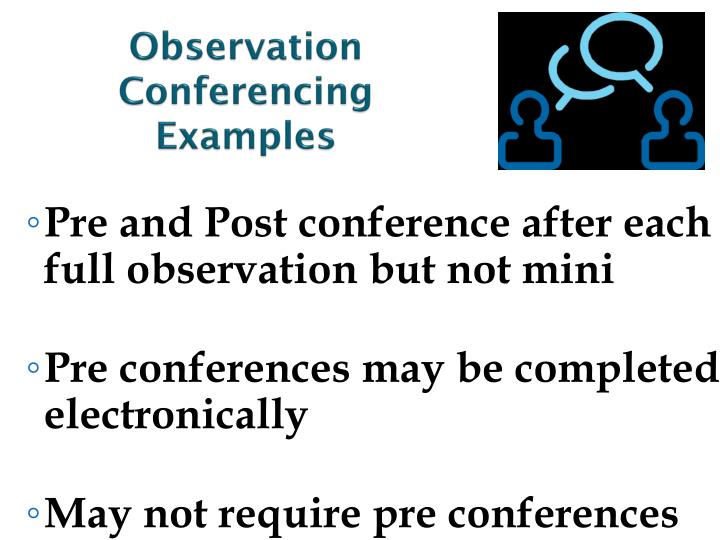 Observation Conferencing Examples