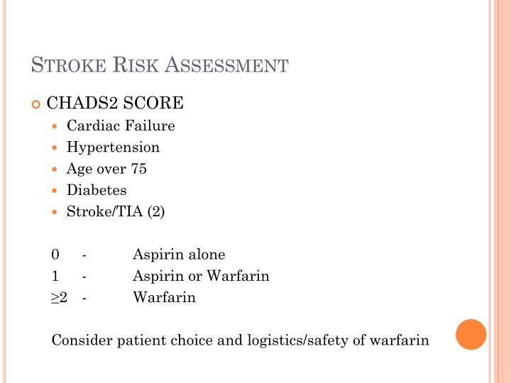 Stroke Risk Assessment