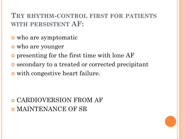 Try rhythm-control first for patients
