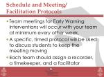 schedule and meeting facilitation protocols