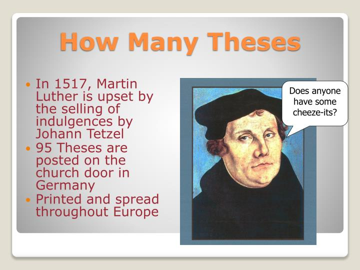 95 theses activity With the western church in decline, 95 theses of abolition take a fresh look at modern christianity 500 years after the reformation, and 95 theses of abolition christianity after 500 years of reformation.
