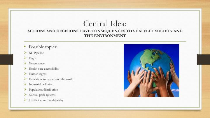 Central Idea:
