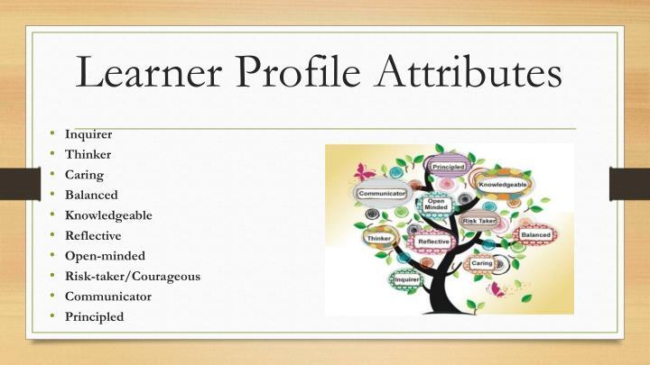 Learner Profile Attributes
