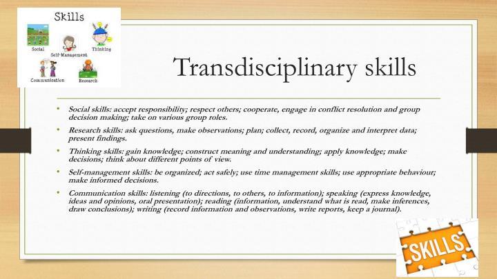 Transdisciplinary skills