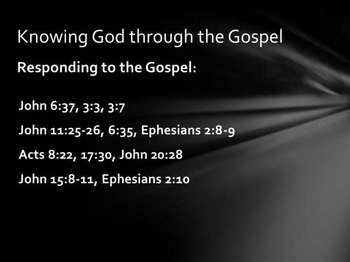 Knowing God through