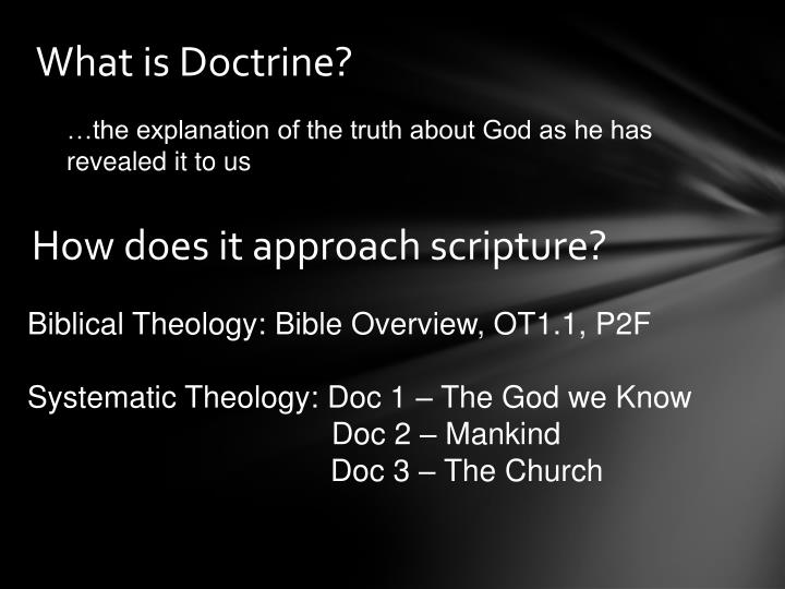 What is doctrine