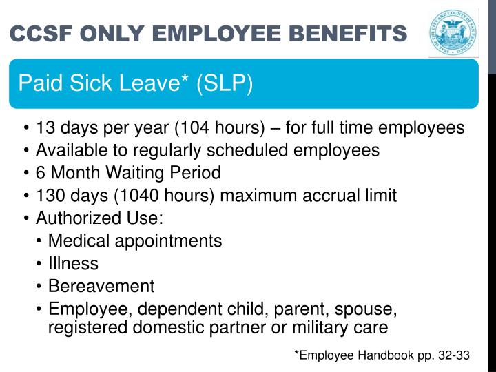 Ccsf only employee benefits