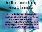 how does genetic testing relate to forensics