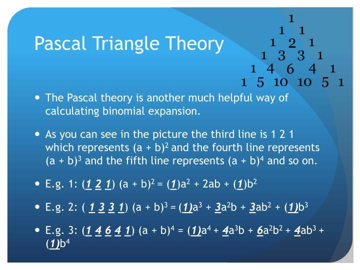 Pascal Triangle Theory