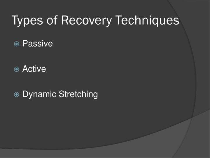Types of Recovery Techniques