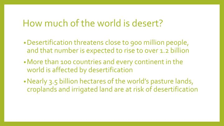How much of the world is desert?