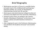 brief biography