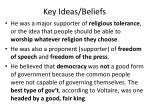 key ideas beliefs