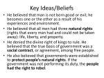 key ideas beliefs1