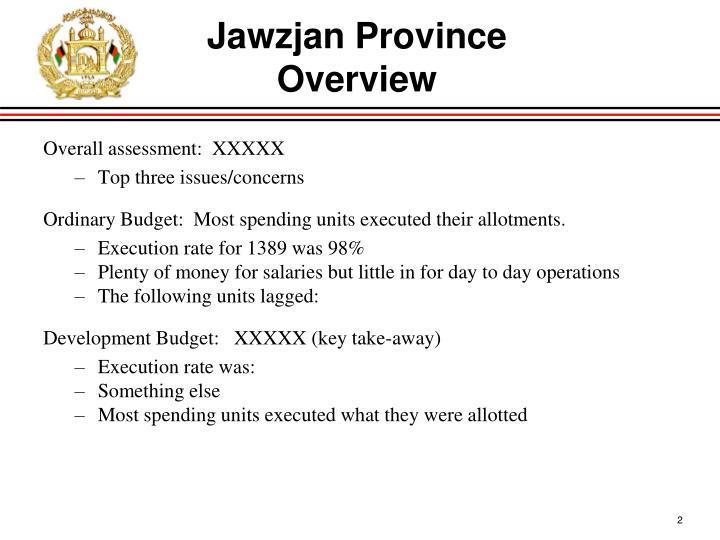 Jawzjan province overview