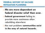 federal history of hazard mitigation planning1