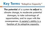 key terms adaptive capacity