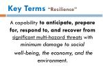 key terms resilience