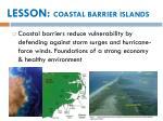 lesson coastal barrier islands