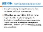 lesson resistance resilience and restoration2