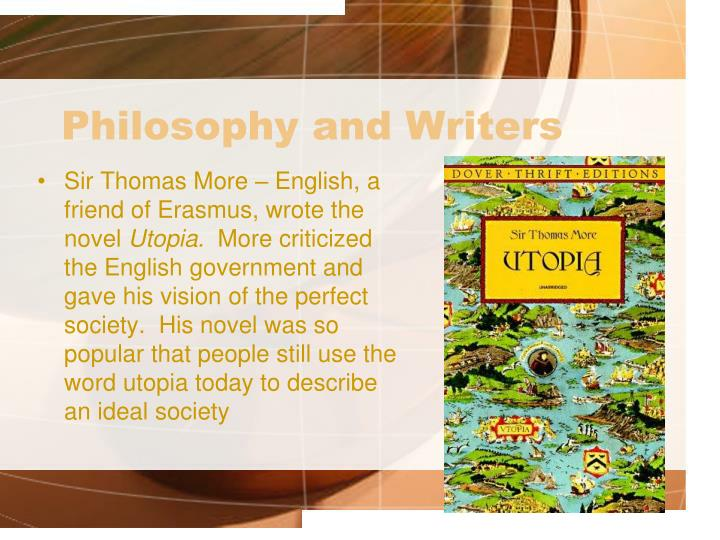 Philosophy and Writers