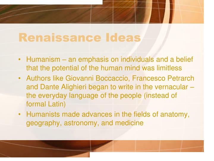 Renaissance Ideas