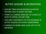 active leisure recreation