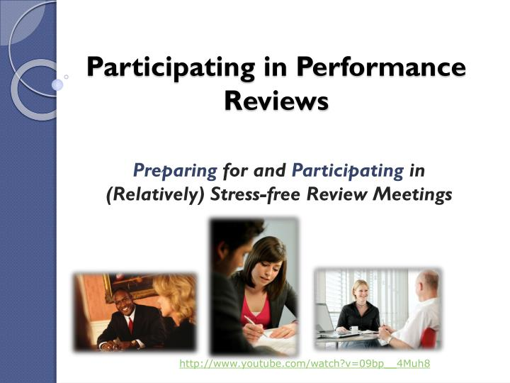 participating in performance reviews n.