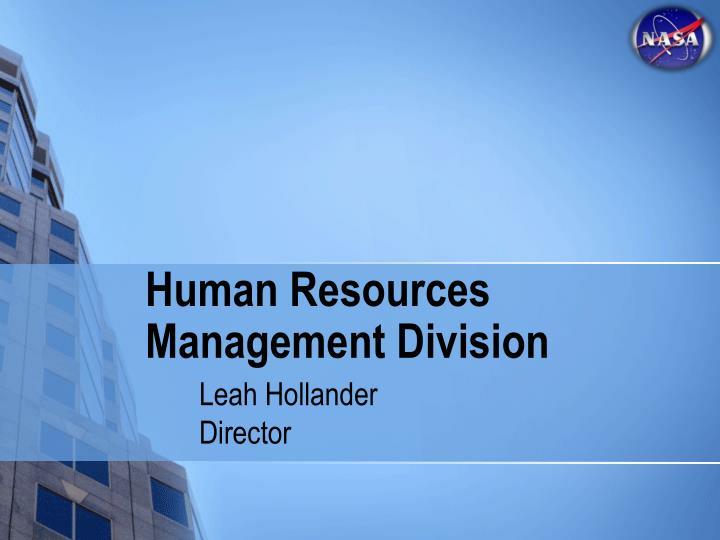 Human Resources Management Division
