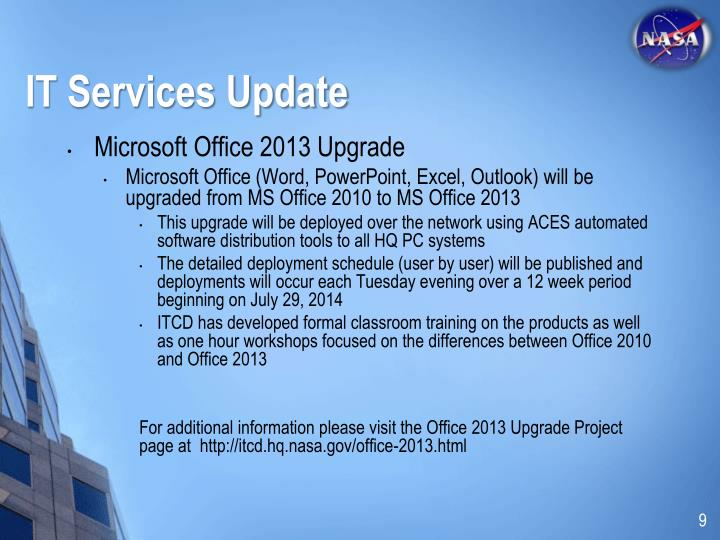 IT Services Update