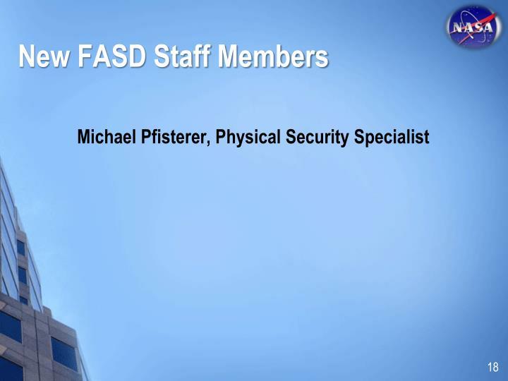 New FASD Staff Members