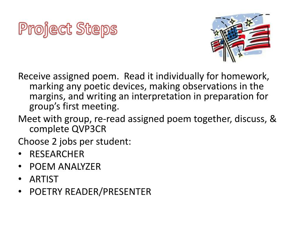PPT - American Dream Poetry Project Explanation PowerPoint