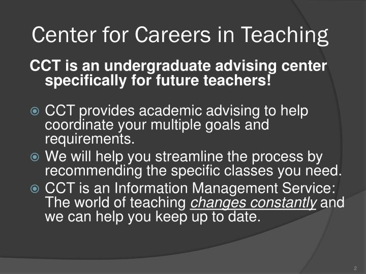Center for careers in teaching1