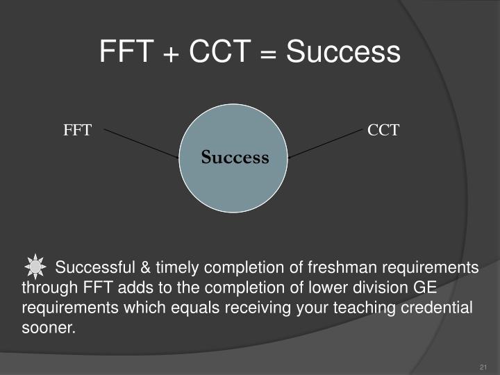 FFT + CCT = Success